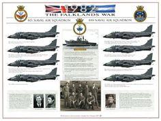 The Falklands War HMS Invincible 801 NAS/899 NAS. HJ Dempsey A3 print, exclusive to the Fleet Air Arm Museum. £17.95 inc VAT