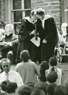 Bob Dylan, right, received an honorary degree from Princeton in 1970,