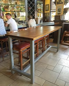 Unique Long Narrow Bar Height Table