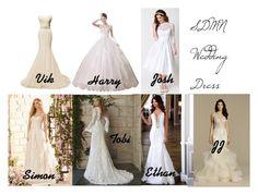 SDMN Wedding dresses by dearbhla-doherty on Polyvore featuring Heart of Haute, Maggie Sottero, wedding, youtube, weddingdress, sidemen and SDMN