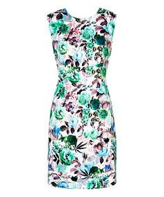 Look what I found on #zulily! Green Floral Zazu Dress by Louche #zulilyfinds