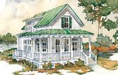 Looking for the best house plans? Check out the Hunting Island Cottage plan from Southern Living. Small Cottage House Plans, Small Cottage Homes, Southern Living House Plans, Cottage Floor Plans, Southern Cottage, Beach House Plans, House Floor Plans, Small Homes, French Cottage