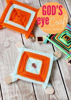 A tutorial for God's eye kids' craft idea.