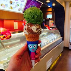 Baskin Robbins// Flavor of the month Choco mickey + green tea