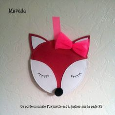 Cut out simple shapes to sew a cute fox :)