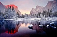 Yosemite Valley in Winter.