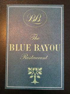 Disneyland The Blue Bayou Small Menu New Orleans Square by VintageDisneyana on Etsy