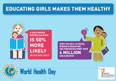 """""""Educating girls makes them Healthy."""" Pratha Foundation Wishing U a Happy Healthy Life on #WorldhealthDay."""
