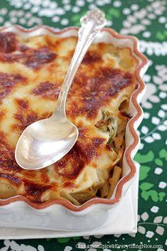 Baked Artichoke Chicken Pasta recipe | Chefthisup