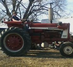 Me and the old 806 IH