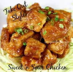 Take Out Style Sweet 'n Sour Chicken Sweet sticky chicken baked up in the oven makes an easy weeknight meal! Love it? Pin it to SAVE it! Follow Spend With Pennies on Pinterest for more great recipes! If you love take out sweet 'n sour chicken, you are...