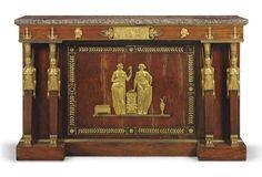 AN EMPIRE ORMOLU-MOUNTED MAHOGANY SIDE CABINET CIRCA 1805   Empire ...