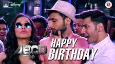 Happy Birthday Lyrics from ABCD A party song by Varun Dhawan, DSoldierz, Sachin. Aww tera happy bday O aaj toh party jab tak fatte. Happy Birthday Song Download, Happy Birthday Wishes Song, Happy Birthday Video, Birthday Songs, Singing Happy Birthday, Happy Birthday Funny, New Movie Song, Hindi Movie Song, 2 Movie