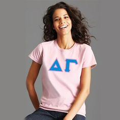 $15 Custom Printed Sorority T-Shirt - Gildan 5000 - DIG Sorority And Fraternity, Sorority Shirts, Custom Greek Apparel, Greek Clothing, Colorful Shirts, Sweatshirts, Delta Gamma, Prints, T Shirt