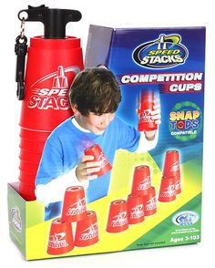 Speed Stacks Competition Cups and thousands more of the very best toys at Fat Brain Toys. This exciting sport concentrates on hand-eye coordination, focus, rhythm, ambidexterity and bilateral proficiency. This competitive spor. Indoor Activities For Adults, Summer Activities For Toddlers, Family Games Indoor, Rainy Day Activities, Indoor Activities For Kids, Fun Outside Games, Camping Games Kids, Games To Buy, Adult Games