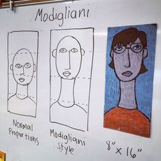 This Modigliani self portrait project seems to work surprisingly well every time I try it with elementary students.