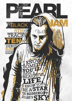 """pearl jam design and illustration. Você já conhece """"Let's Play Two"""", o novo documentário dos Pearl Jam que acompanha os concertos lendários no Wrigley Field, a 20 e 22 de agosto de 2016, durante o campeonato que consagrou os Chicago Cubs como vencedores da World Series de Beisebol? Confira em http://mundodemusicas.com/lets-play-two-pearl-jam/"""