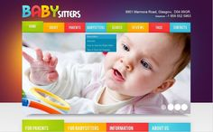 Baby Babysitter Facebook HTML CMS Templates by Mercury