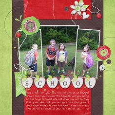 Really cute scrapbook layout!