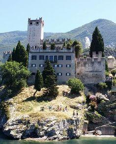 Scaliga Castle in Malcesine on Lake Garda, Verona, Veneto, Italy (2016)