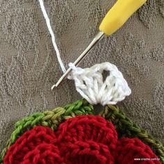 Trilho de mesa - caminho de mesa com flor rasteirinha - passo a passo (5)