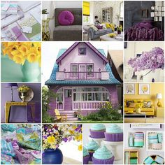 beautiful collection of colors... purple + yellow + Turquoise via Maureen Cracknell Handmade