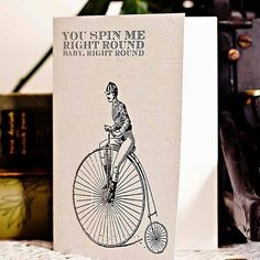 'you spin me round' card by the spotted sparrow | notonthehighstreet.com