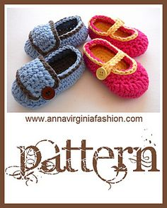 Cute booties with variations for a girl or boy! Pattern is in US terms.