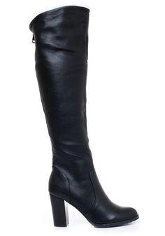 Eleganckie kozaki na obcasie  #kozaki #czarne #black #obuwie     #pantofelek24pl