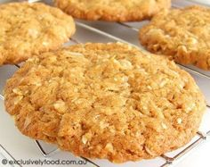 Exclusively Food: Chewy Anzac Biscuit Recipe