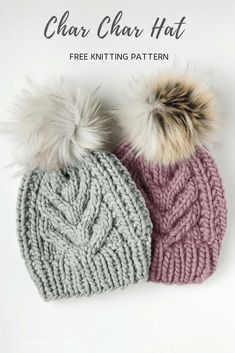 Cable Knit Hat, Cable Knitting, Knitting Socks, Free Knitting, Knitted Hats, Crochet Hats, Beginner Knitting, Slouch Hats, Wool Hats