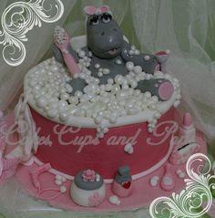 Hippo Cake One Spoilt LadyAll Ediblehandmade  My Cakes cakepins.com