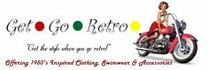Get Go Retro has vintage swimwear, old fashioned aprons, bowling shirts, rockabilly and swing clothes, pinup swimwear, retro clothing and 50's clothes and dresses.