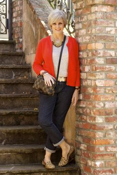 <outfit post> orangetastic: denim by Ann Taylor; tee by Banana Republic; sweater by LOFT; shoes by Madewell; belt by Agnes B; handbag by Fendi