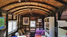 These one of a kind interior discoveries off the beaten track make your heart sing #oldtraincarriage #carriage #coastal #inspiredliving #interior #homesweethome #home #discovery #train #livingroom #living #inspiration #rustic #travel #oneofakind #moodboard #ceiling #architecture #theplacesyousee #gypsysoul #soul #style #homestyle #interiordecor #australia by canterandcave http://www.australiaunwrapped.com/ #AustraliaUnwrapped