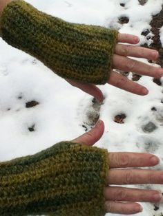 Wool Blend Fingerless Mitts on Etsy, $17.99