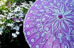 Painted paper parasol