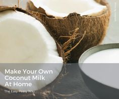 We just can't say enough about how much we love coconut milk and what it does for Eco-Musings Luxury Soap. We also love it for consumption as an alternative to dairy. Coconut milk is often used by those following a Paleo diet. From a nutritional perspective, it's an excellent choice. Making it is easy peasy!