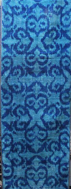 Yuner / Silk Velvet uzbek ikat fabric 3 yard K379A от YUNERSHOP