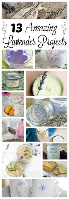Gardening Diy 13 DIY Lavender Projects for You to Make and Enjoy! Then you'll enjoy 13 DIY Lavender Projects that you can make and enjoy throughout the year. From candles to lotion to recipes and more! Lavender Uses, Lavender Crafts, Lavender Recipes, Growing Lavender, Lavender Fields, Lavender Garden, Homemade Beauty, Homemade Gifts, Diy Beauty