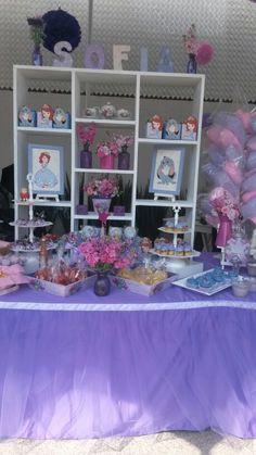 Mesa de Postres Princesa Sofia