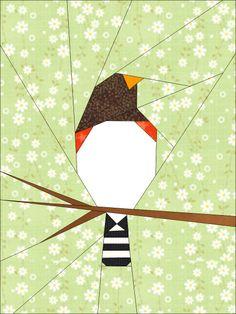 Shape Moth: paper pieced quilt pattern