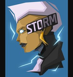 This HD wallpaper is about px Blue Background Marvel Comics Storm (character) superhero People Short hair HD Art, Original wallpaper dimensions is file size is Comic Book Characters, Comic Book Heroes, Marvel Characters, Comic Character, Marvel Dc Comics, Marvel Heroes, Marvel Avengers, Marvel Universe, Mundo Marvel