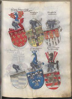 Grünenberg, Konrad: Das Wappenbuch Conrads von Grünenberg, Ritters und Bürgers zu Constanz um 1480 Cgm 145 Folio 204