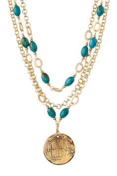 Triple Strand Spanish Medallion Necklace by mariechavez on @HauteLook