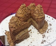 Chocolate cake with cookie dough filling. Sooo rich, but it needed to be done. :)