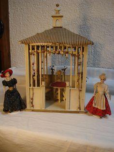 Alter unberührter Puppenstuben Pavillon um 1900, Gottschalk, Hacker, Schönherr ? | eBay