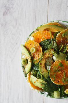 Orangen Avocado Salat - Berries & Passion
