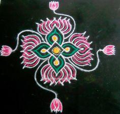 The Lotus Rangoli Design