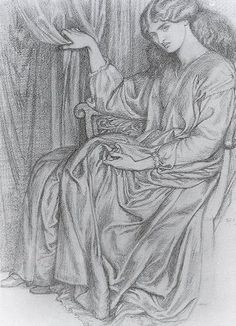 History of Art: Neoclassicism and Romanticism - Pre-Raphaelites - Dante Gabriel Rossetti A4 Poster, Poster Prints, Pre Raphaelite Brotherhood, Dante Gabriel Rossetti, John Everett Millais, Art Database, Musa, Romanticism, Art Sketchbook